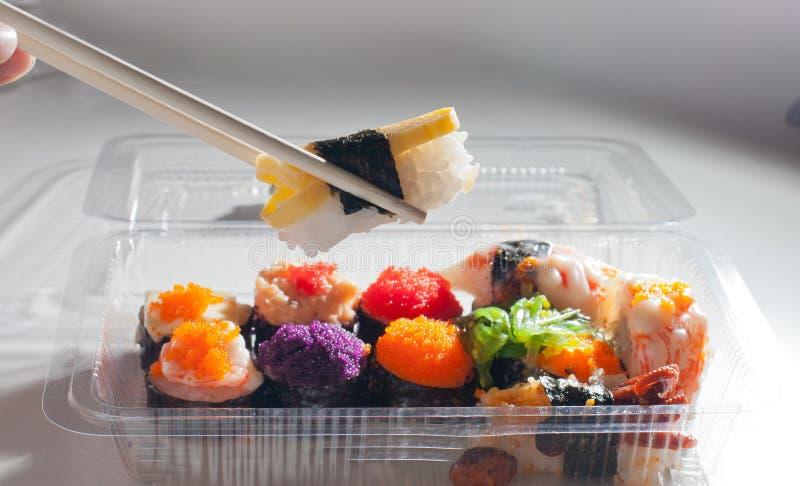 Comida del japonés del sushi foto de archivo libre de regalías
