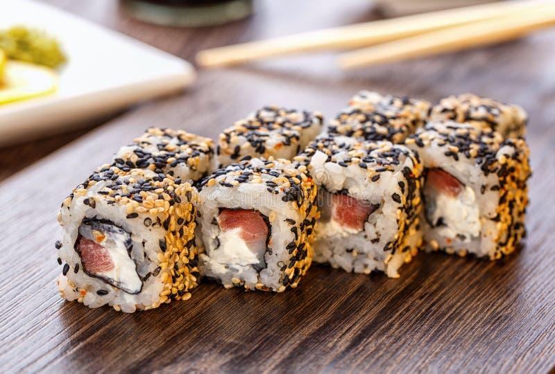 Comida del japonés del sushi fotos de archivo
