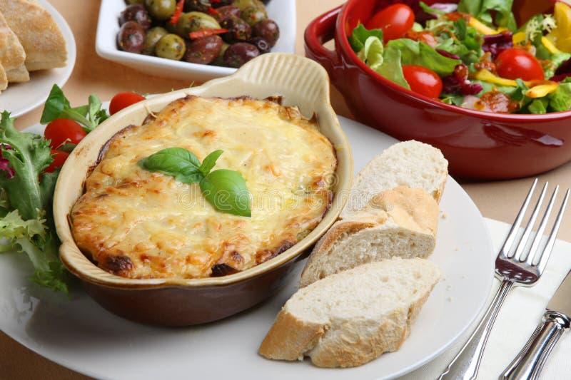 Comida del Lasagna imágenes de archivo libres de regalías