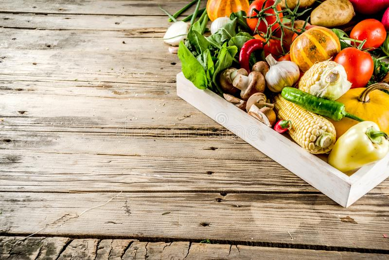 Comida del otoño que cocina el fondo fotografía de archivo