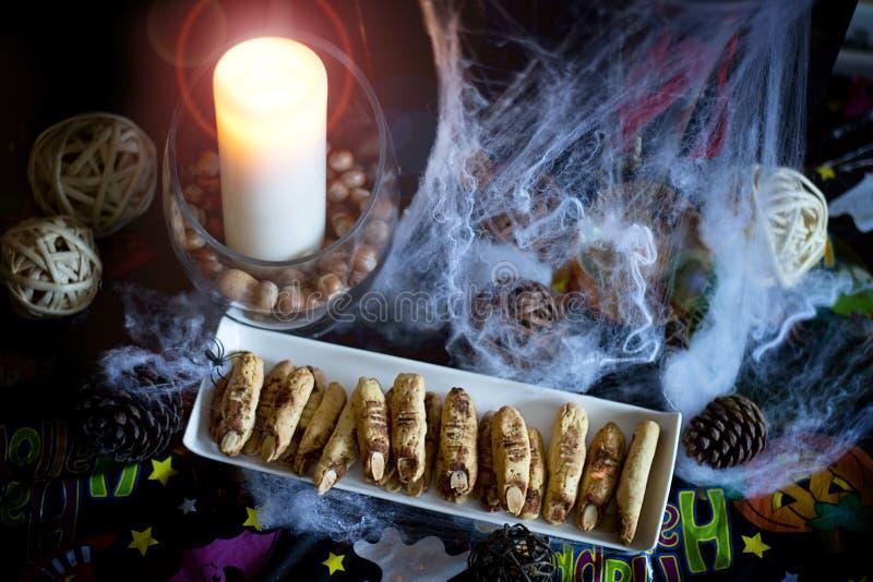 Comida del partido de Halloween fotos de archivo