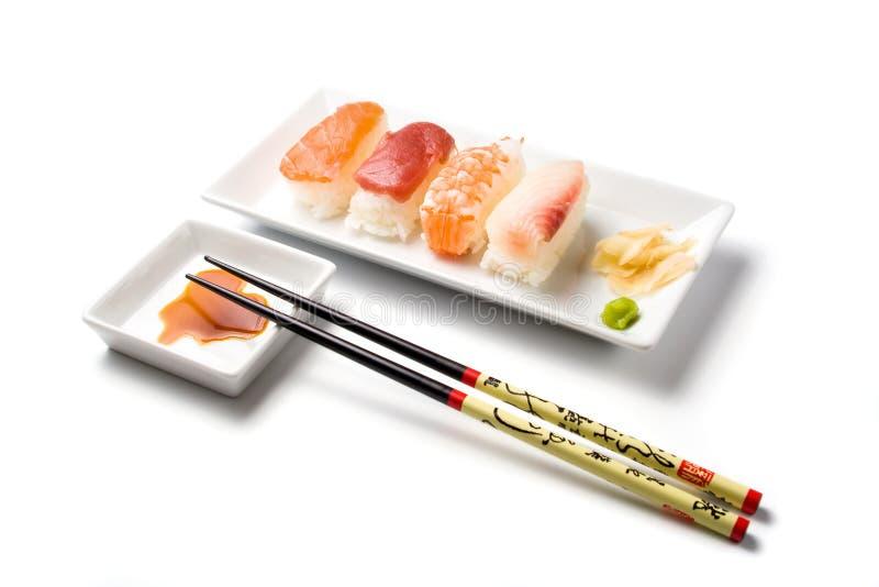 Comida del sushi del nigiri de la serie del sushi imagen de archivo