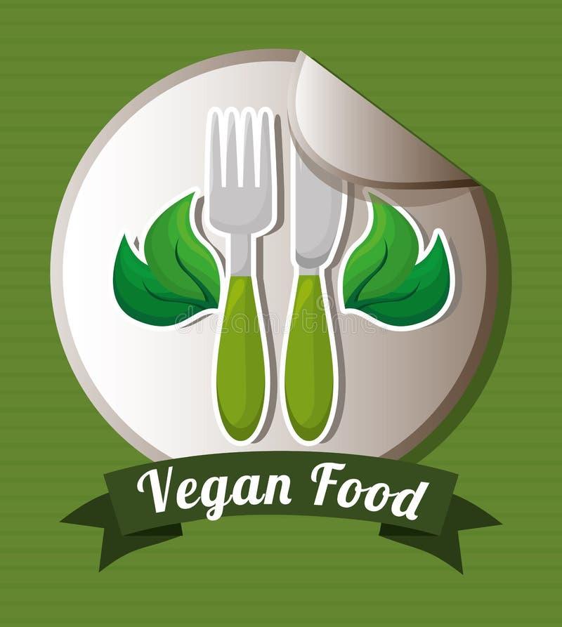 Comida del vegano stock de ilustración