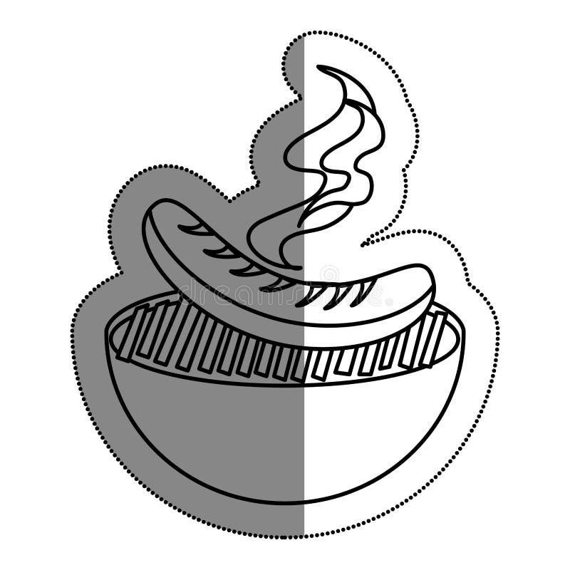 comida deliciosa de la parrilla del Bbq ilustración del vector
