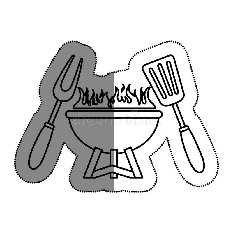 comida deliciosa de la parrilla del Bbq libre illustration
