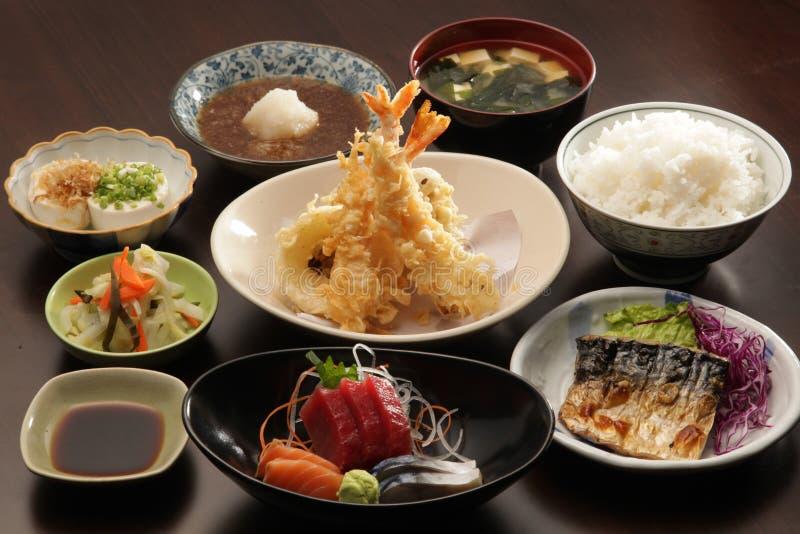 Comida determinada del japonés imagen de archivo libre de regalías