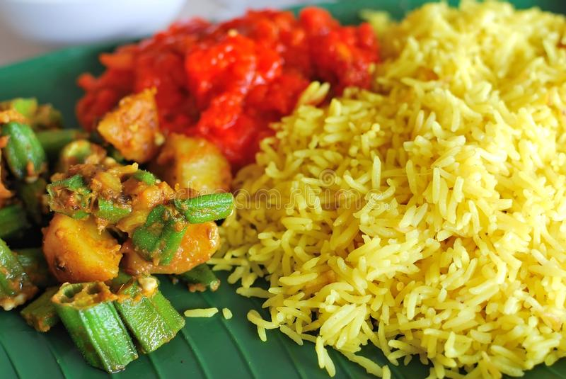 Comida determinada del vegetariano indio sano imagen de archivo libre de regalías