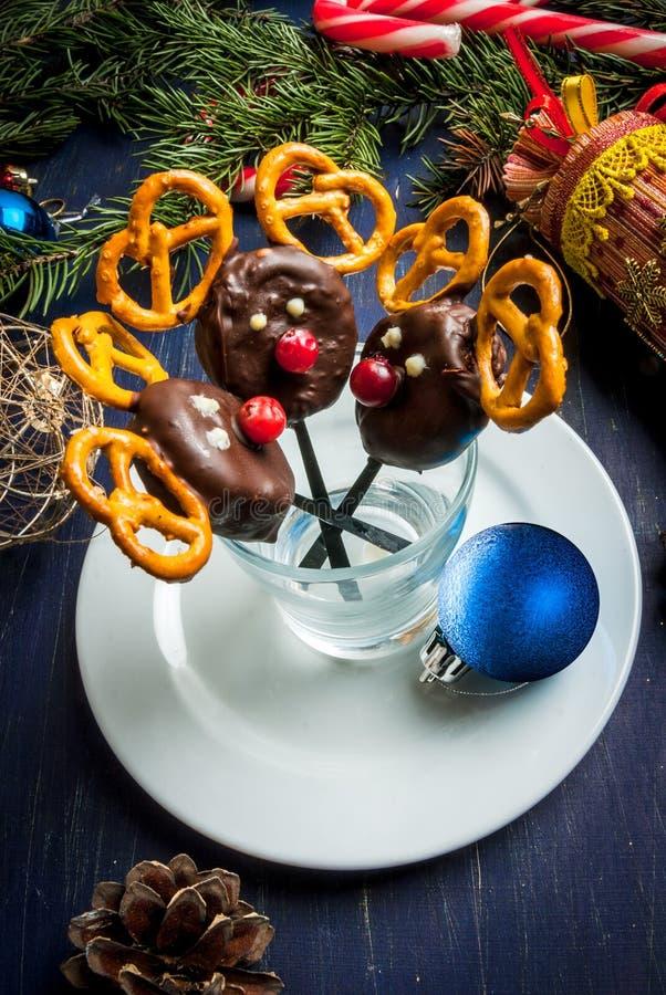 Comida divertida y sana de la Navidad para los niños foto de archivo libre de regalías