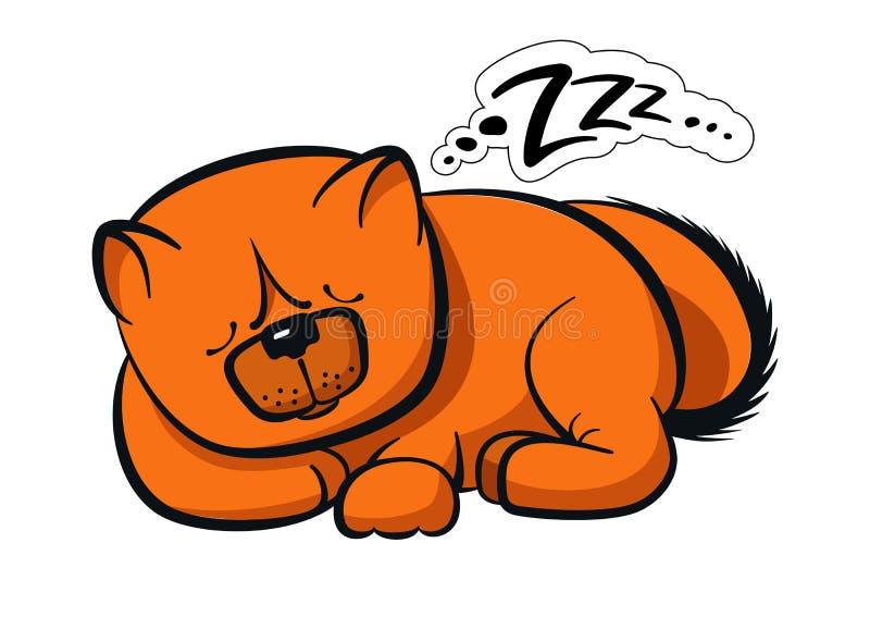 Comida-comida do cão do sono ilustração do vetor
