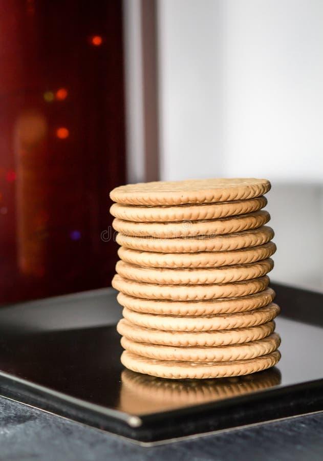 Comida, dulce, pila, bocado, postre, galleta, aislada, galletas, galleta, blanco, desayuno, galletas, torta, deliciosa, crepes, b foto de archivo