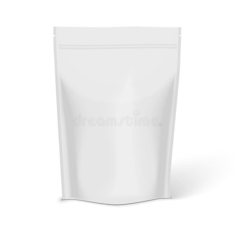 Comida en blanco blanca de la hoja stock de ilustración