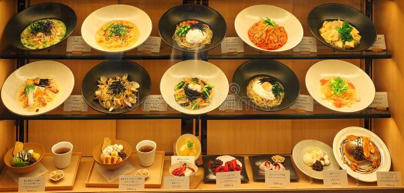 Comida en la exhibición en Japón fotografía de archivo