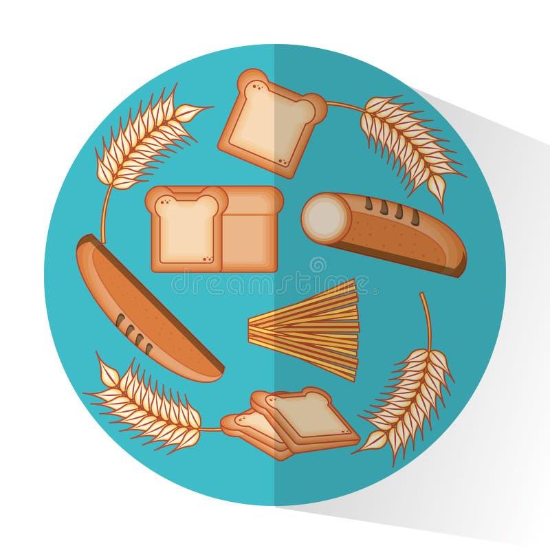 Comida entera de los productos de los granos ilustración del vector