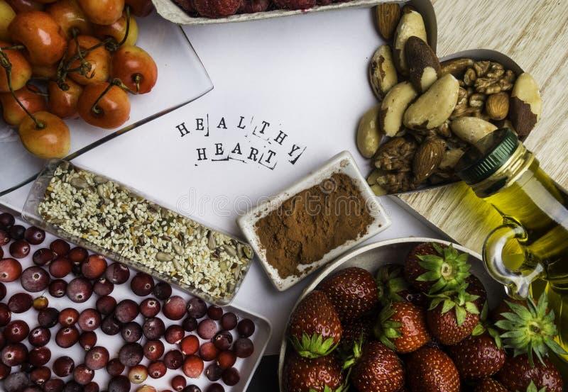 Comida estupenda para reducir el concepto de proceso de envejecimiento incluyendo alto en los antioxidantes, las antocianinas, la fotografía de archivo libre de regalías