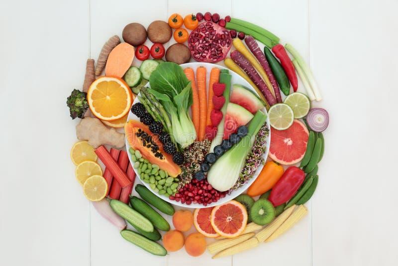 Comida estupenda para una dieta sana imagen de archivo