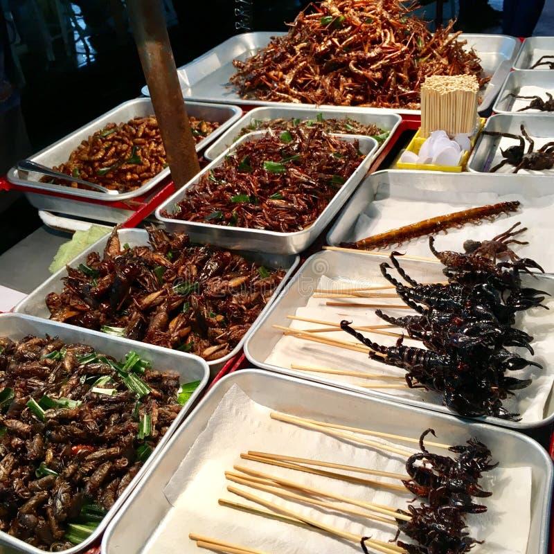 Comida exótica de Bangkok imagenes de archivo