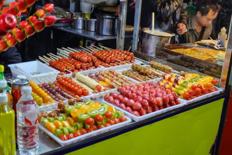 Comida famosa china de la calle del hulu de Tang foto de archivo