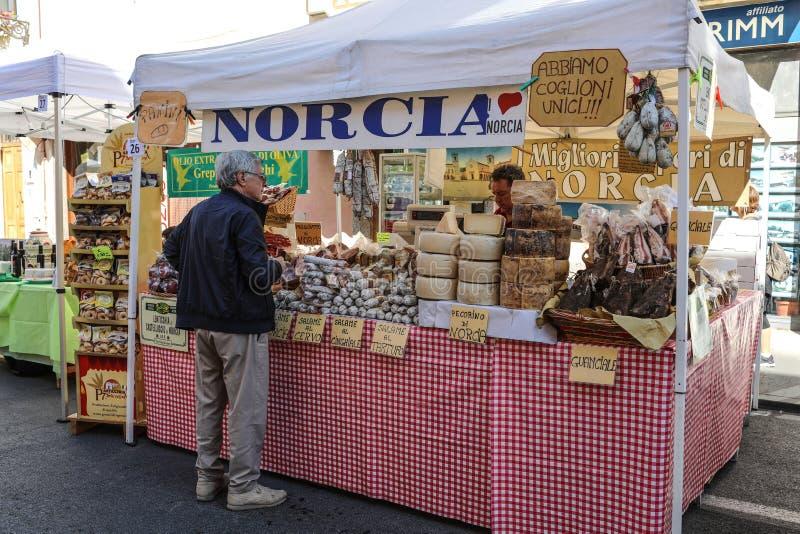 Comida famosa de Norcia foto de archivo