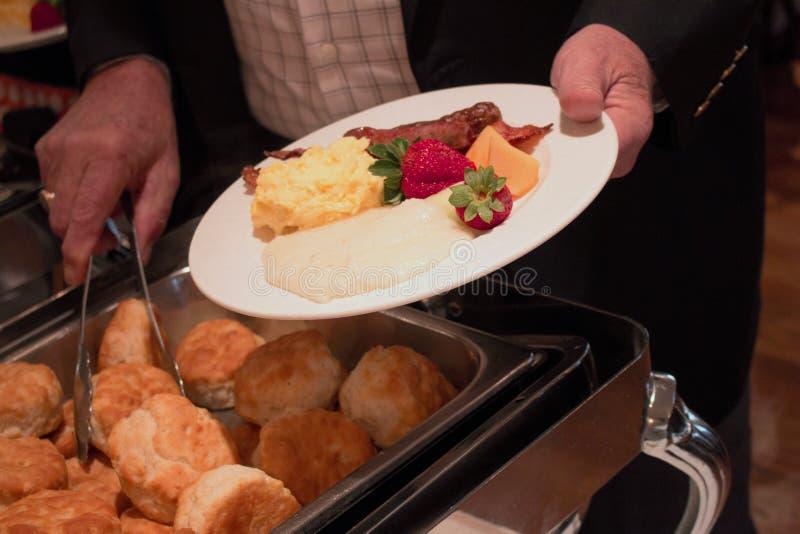 Comida fría meridional del desayuno imágenes de archivo libres de regalías