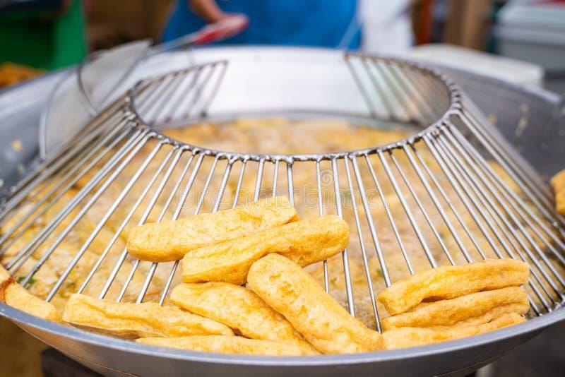 Comida frita del vegetariano del queso de soja fotos de archivo