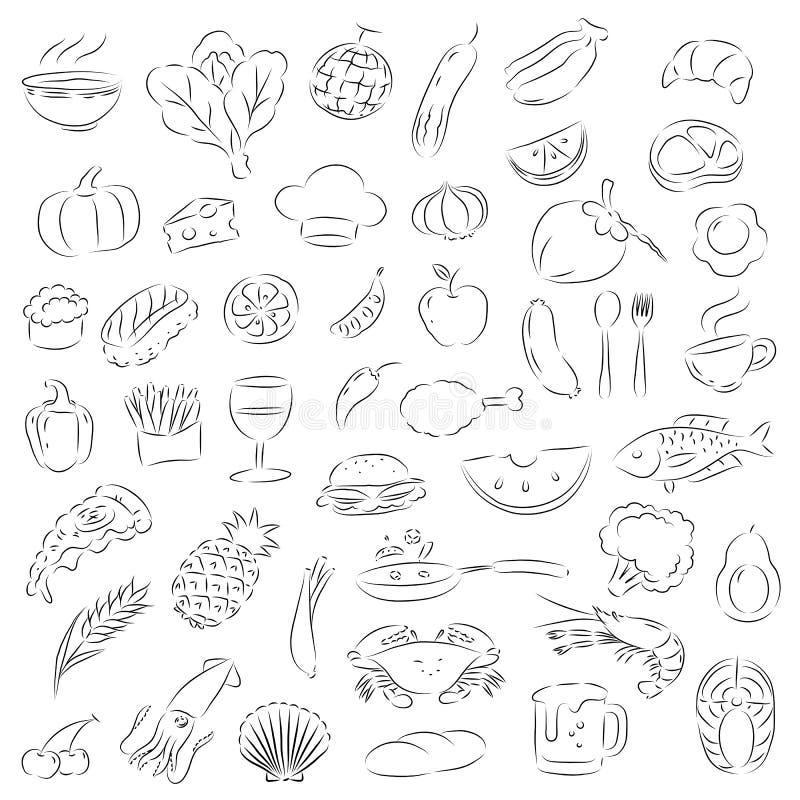 Comida gráfica, comida vectorgraphic, vector stock de ilustración