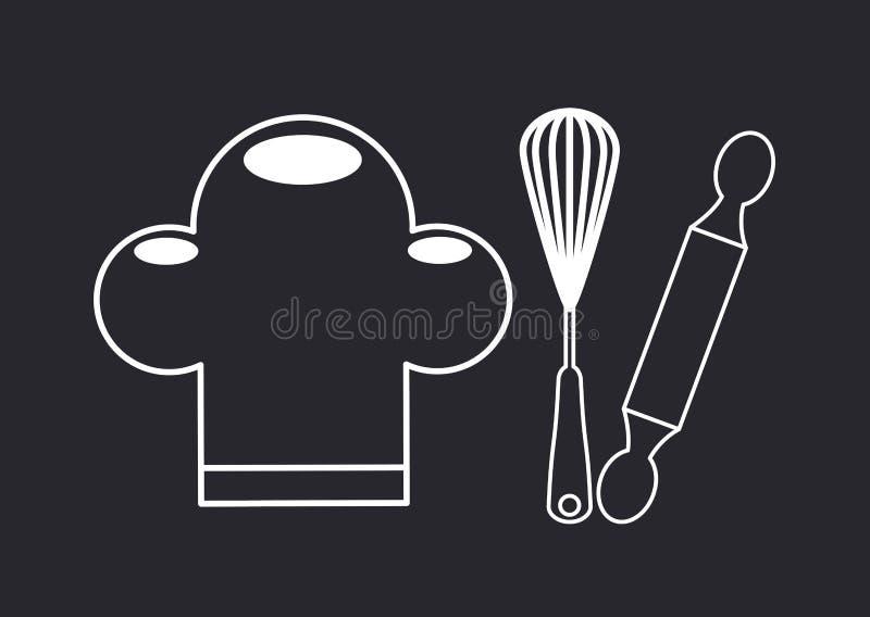 Comida hecha en casa stock de ilustración