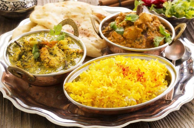 Comida india fotos de archivo