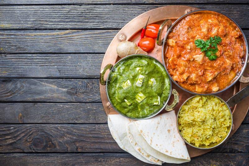 Comida india clasificada fotografía de archivo