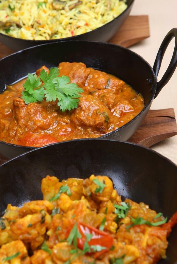Comida india del curry fotografía de archivo libre de regalías