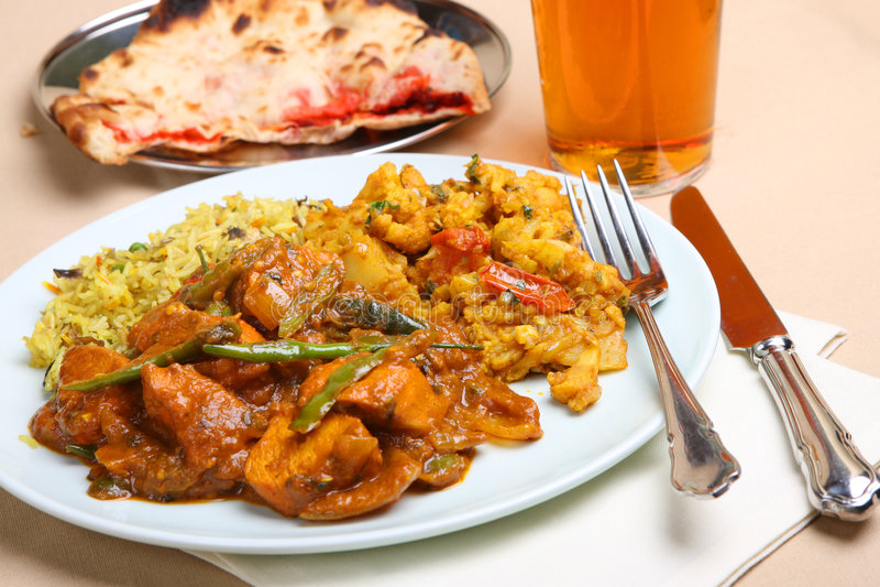 Comida india del curry fotografía de archivo