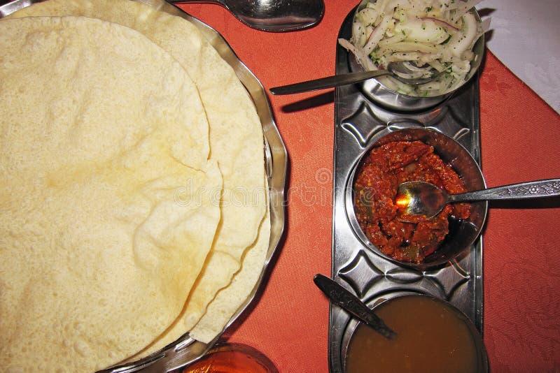 Comida india en Brighton foto de archivo libre de regalías