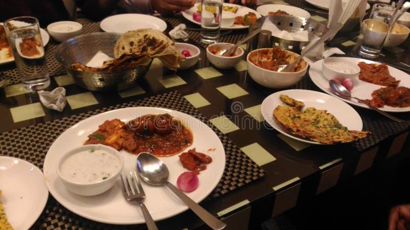 Comida india y x28; Dinner& x29; imagen de archivo