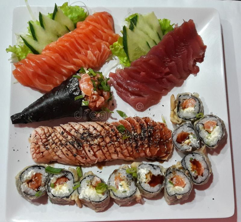 Comida japonesa foto de archivo