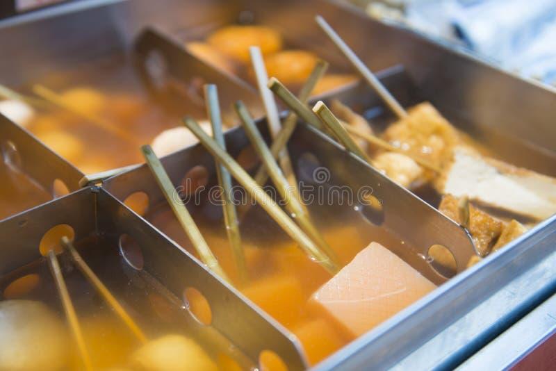 Comida japonesa de la calle de Oden foto de archivo