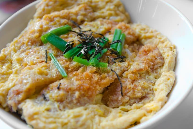 Comida japonesa Katsudon fotografía de archivo