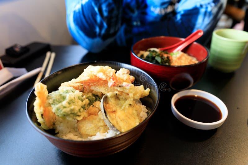 Comida japonesa, Tempura foto de archivo libre de regalías