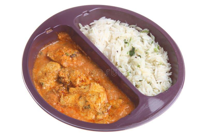 Comida lista de la microonda del curry foto de archivo libre de regalías