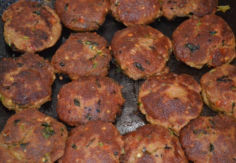 Comida lixo indiana Kabab foto de stock