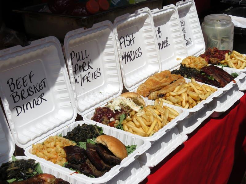 Comida lixo para a venda no festival foto de stock royalty free