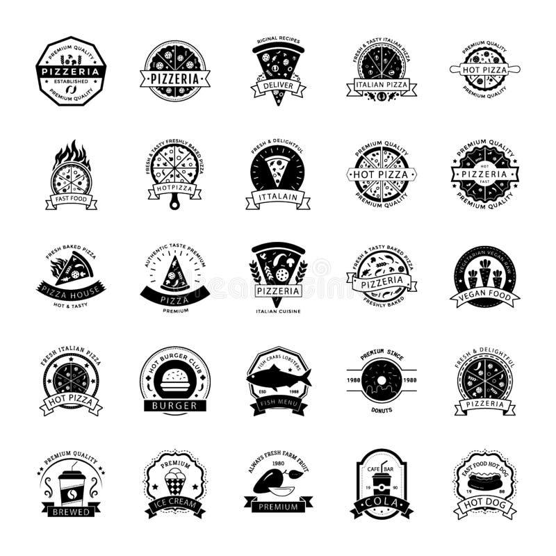 Comida Logo Icons Pack ilustración del vector