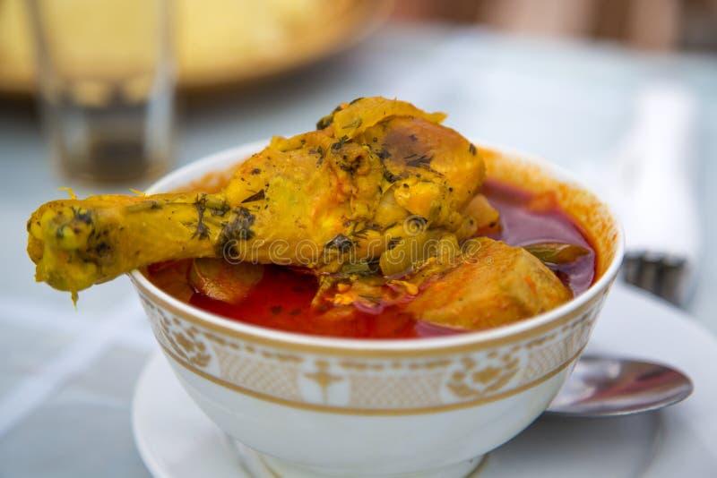 Comida marroquí del pollo imágenes de archivo libres de regalías