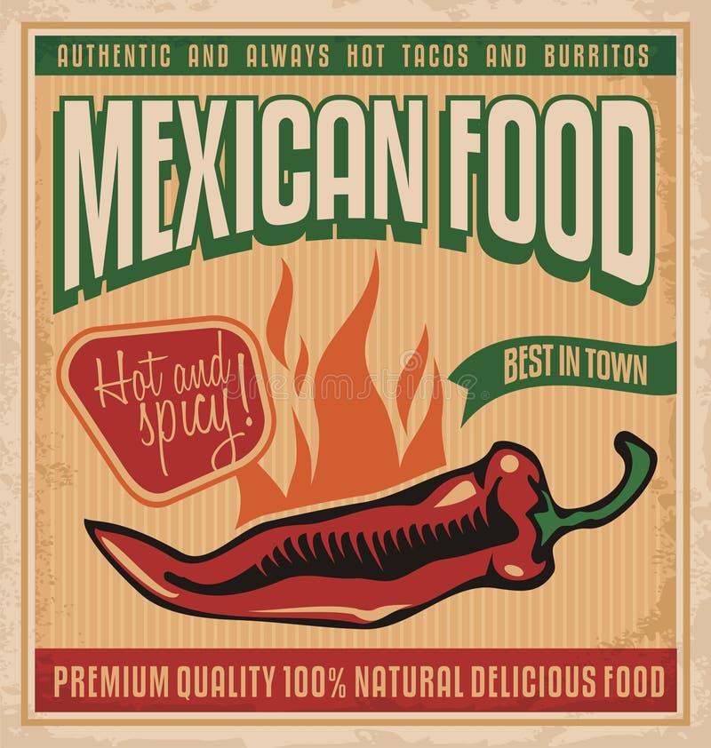 Comida mexicana ilustración del vector