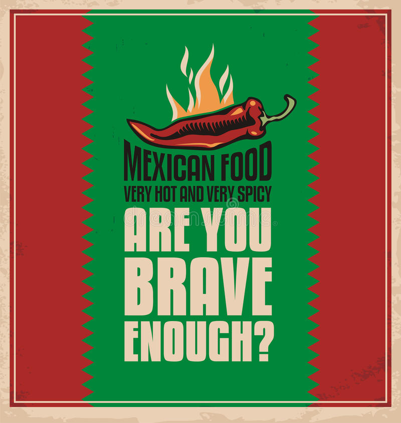 Comida mexicana stock de ilustración
