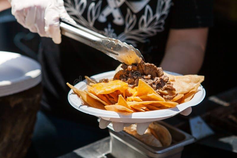 Comida mexicana deliciosa de la calle imagenes de archivo