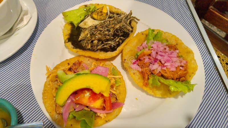 Comida mexicana sabrosa en Yucatán, Mérida imagen de archivo