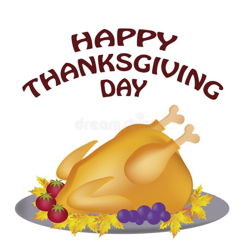 Comida para el día de la acción de gracias ilustración del vector