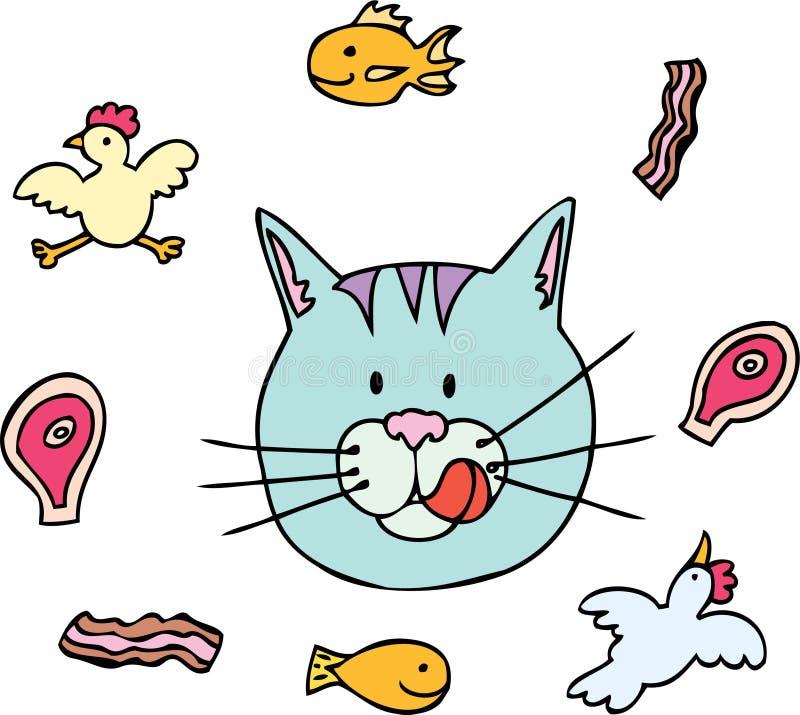 Comida para gatos ilustración del vector