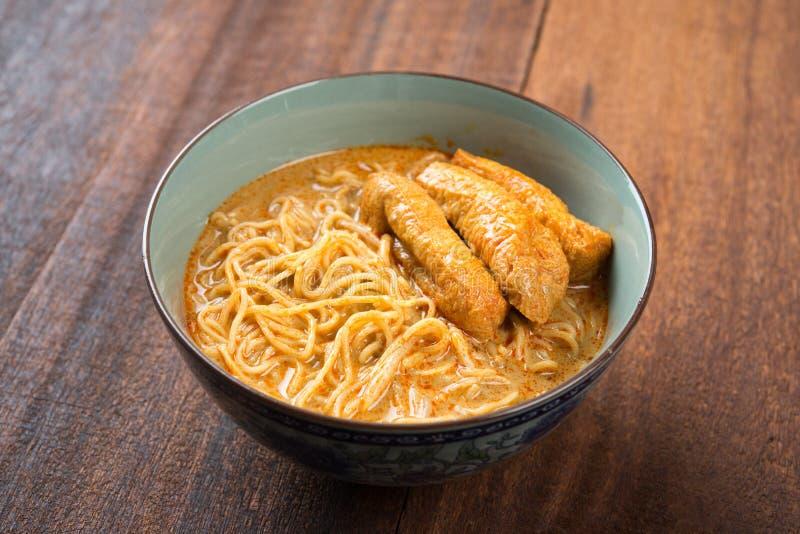 Comida picante del asiático de los tallarines de Laksa del curry imagen de archivo libre de regalías