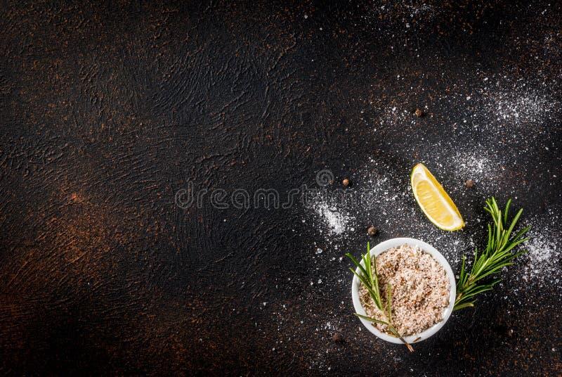 Comida que cocina el fondo imagen de archivo libre de regalías