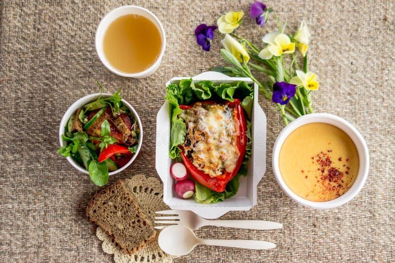 Comida sana de la comida vegetariana imagen de archivo libre de regalías